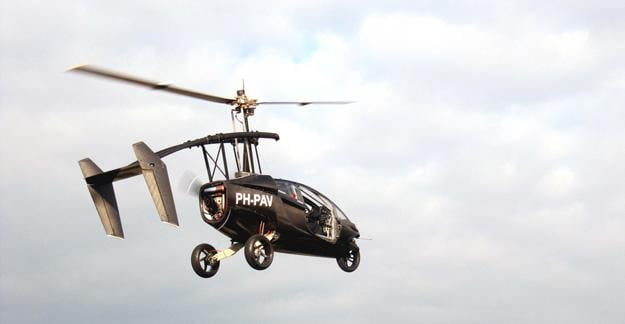 PAL-V-flying-car-completes-successful-liftoff,-maneuvers-the-streets-and-the-sky-with-ease