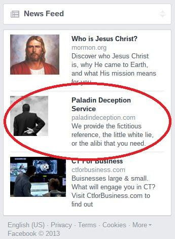 paladin lie for hire facebook ad
