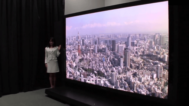 nhk and panasonic 145 inch tv