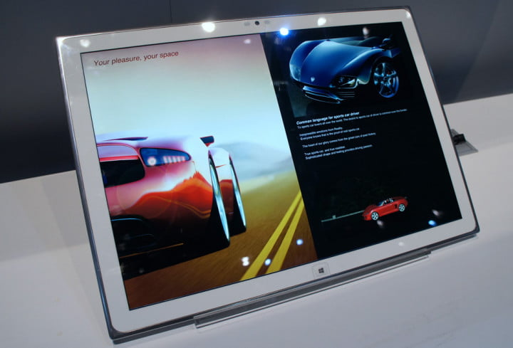 panasonic  inch k windows tablet hands on presentation tool