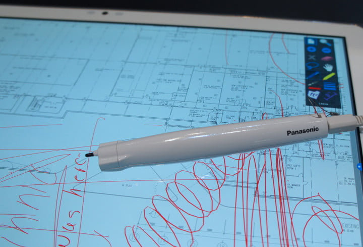 panasonic  inch k windows tablet hands on bluetooth wireless digitized pen