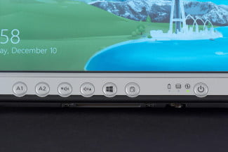 Panasonic FZ-G1 tablet front buttons macro