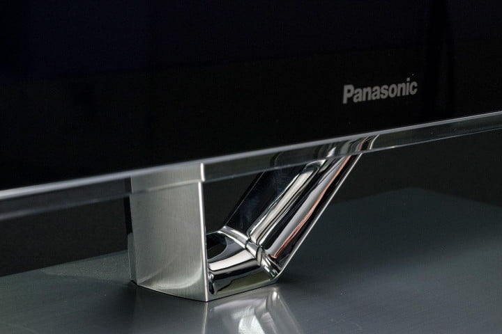 Panasonic TC P55vt60 review stand front angle