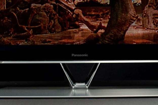 Panasonic TC P60zt60 review front stand closeup