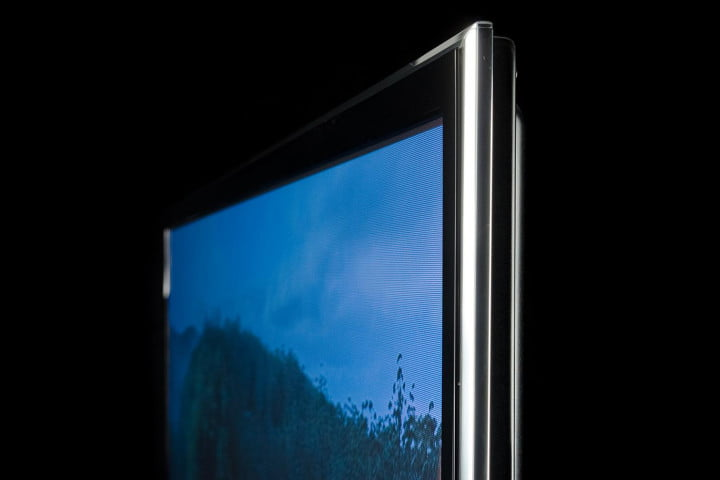 panasonic viera tc p  st review front angle profile