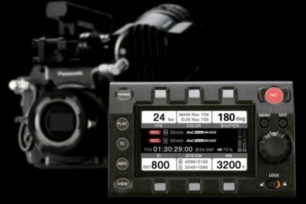 VariCam 35 with a removable control panel module, which can be swapped into the VariCam HS.