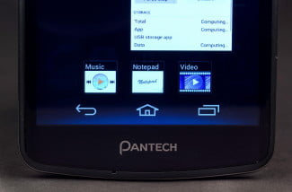 Pantech Discover Phone front bottom macro