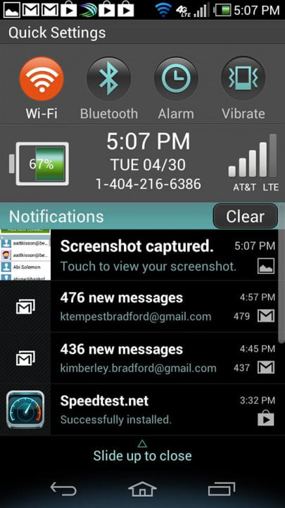 pantech discover review phone screen shot