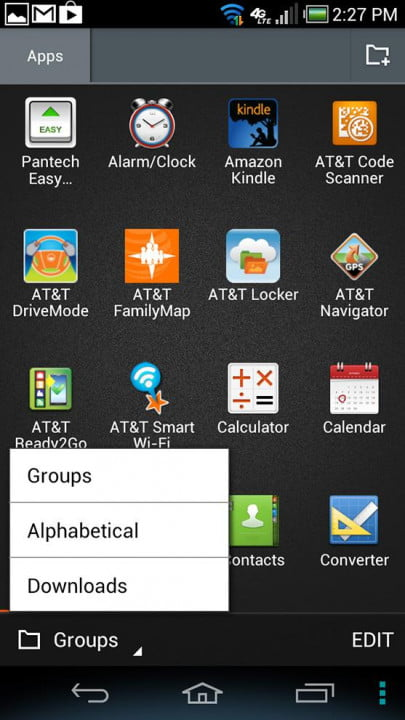 pantech discover review phone screen shot apps