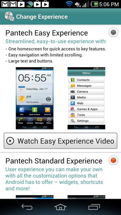 pantech discover review phone screen shot change experience