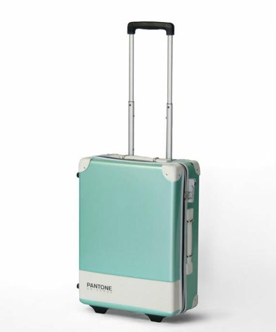 pantone carry case luggage bags make for a colorful trip green