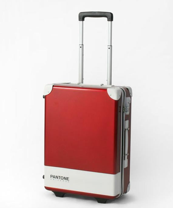 pantone carry case luggage bags make for a colorful trip red