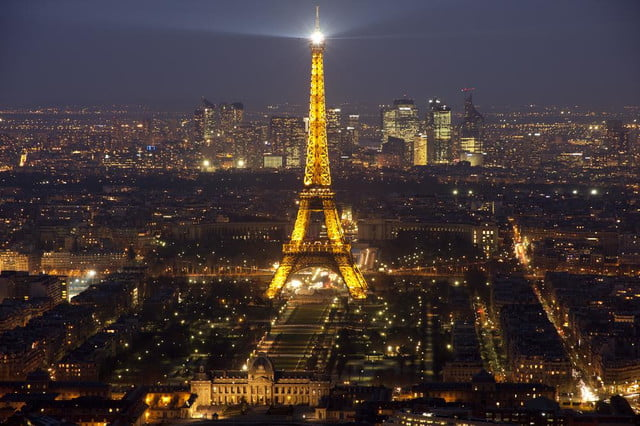 mystery drones continue to fly over paris landmarks at night