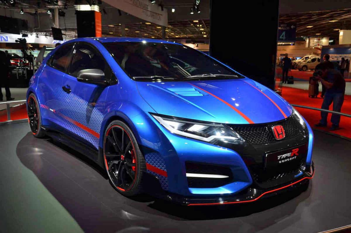 new honda civic type r back end spied before geneva reveal paris