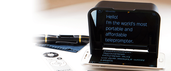 Run your own backyard convention with the Parrot 2 smartphone teleprompter