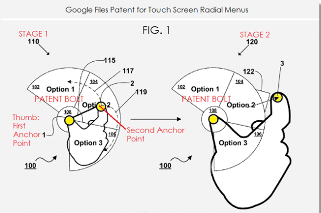 new radial menu android google patent