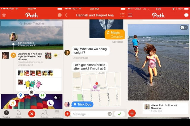paths social network messaging app to be acquired by south korean company path screenshots