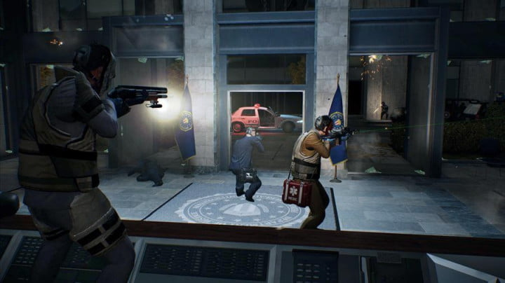 payday  review screenshot office lobby