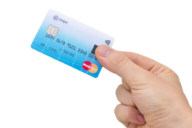 zwipe mastercard credit card with fingerprint sensor payment  iso format available