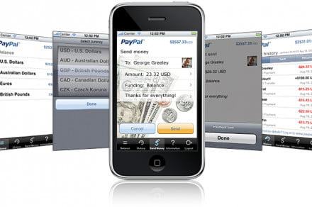 paypal iphone app screenshots innovate 2010