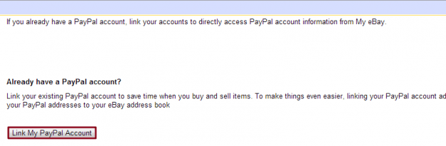 Link PayPal account