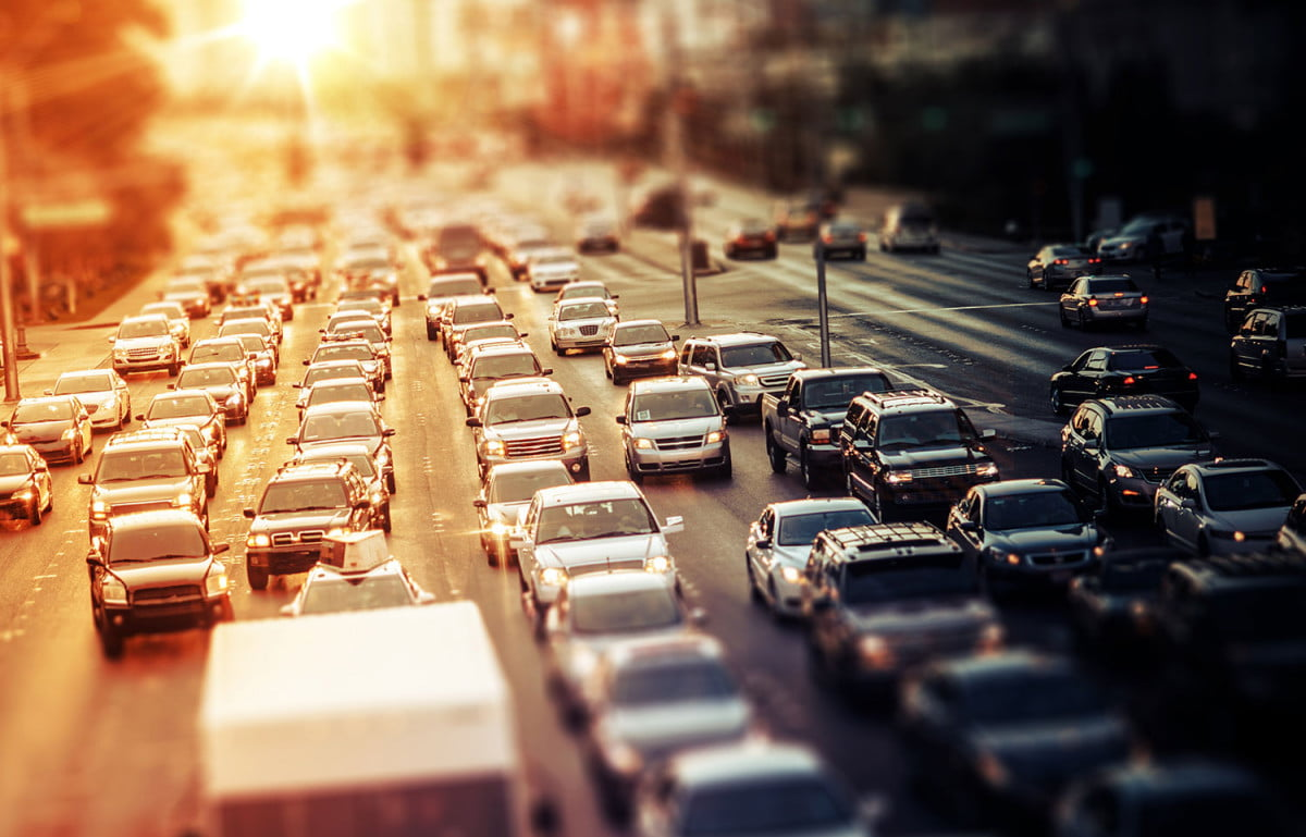 traffic drives reduced urban auto usage peak car