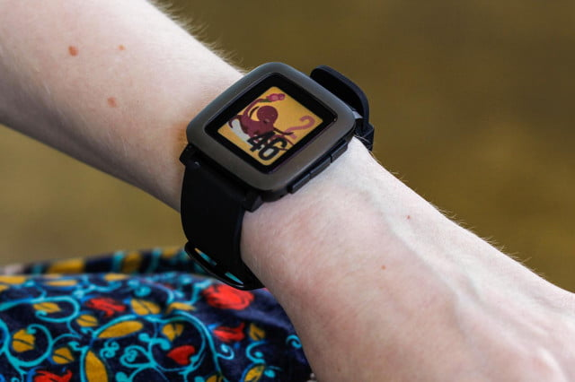 pebble smartwatch  news time feature