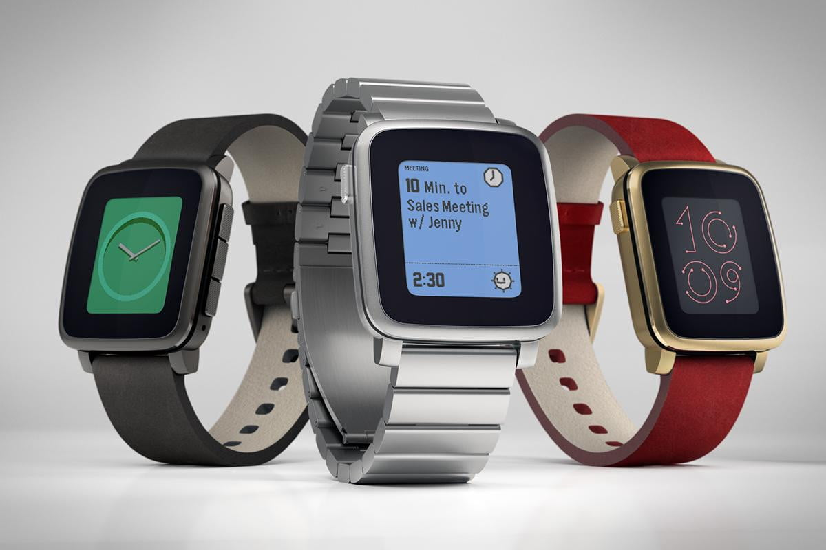 apple watch event causes a spike in pre orders for the pebble time steel