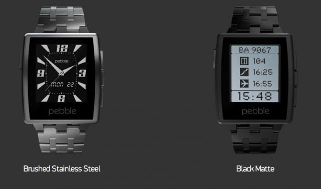 next generation pebble smartwatch unveiled ces  pebblesteelwatch