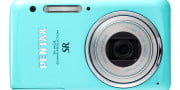 canon powershot elph  hs review pentax optio s green front lens