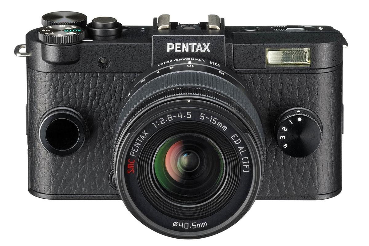 pentax q s  incredibly small like pocket cam yet swaps lenses dslr qs front