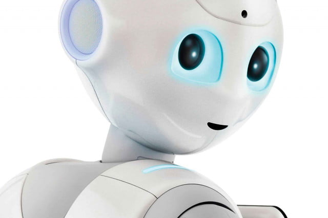 pepper the robot works at train station