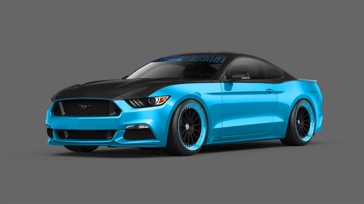 pettys garage sema ford mustang gets limited production run petty s