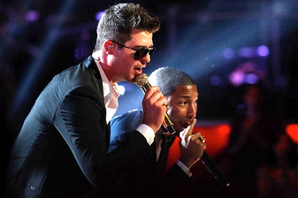 pharell robin thicke guilty of pagiarizing marvin gaye with blurred lines pharrell