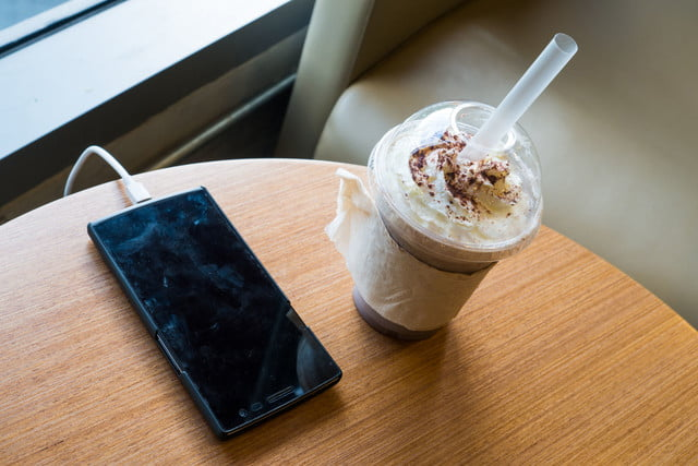 cafe owner charging extra for smartphone phone