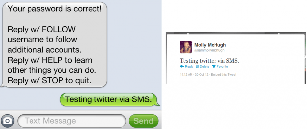 sms to twitter
