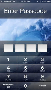 iPhone 5 passcode