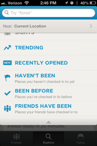 foursquare update