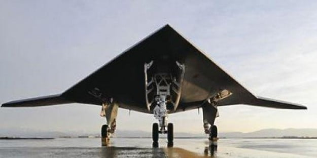 The X-47B is an unmanned military aircraft