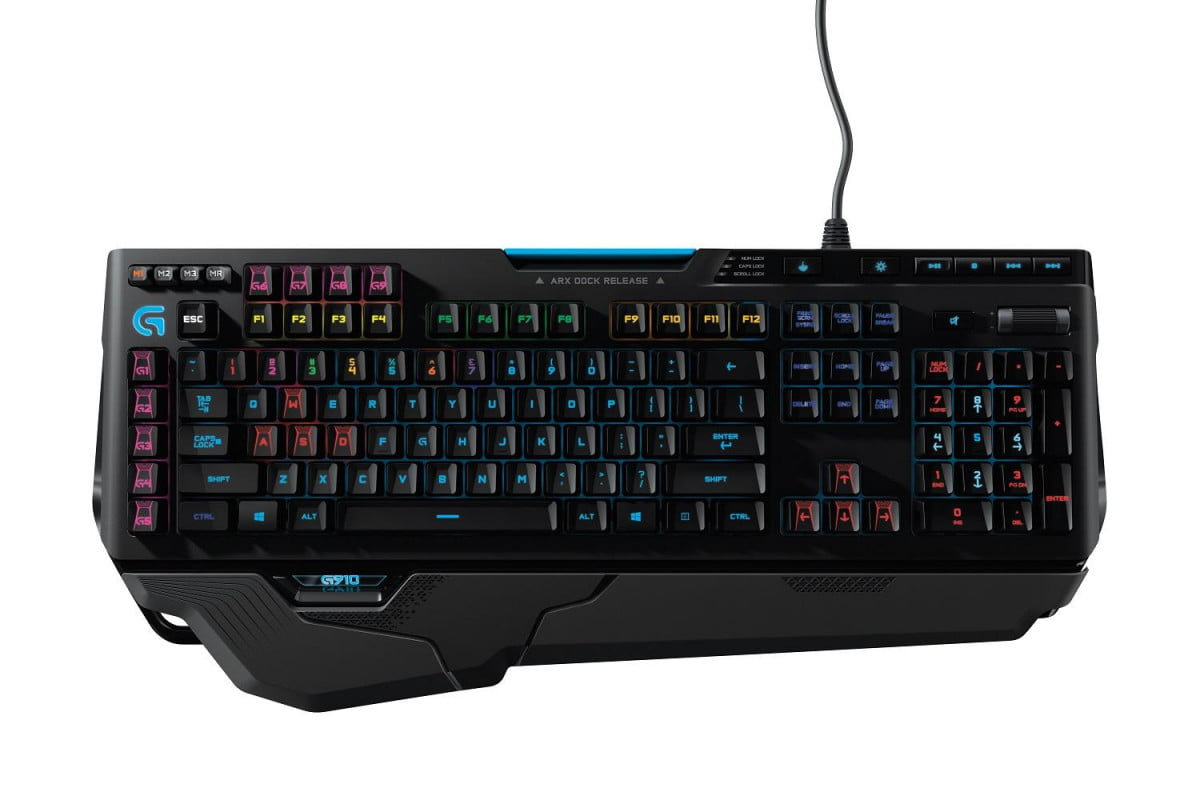 logitechs new g  orion spark keyboard sports key switches individual lighting photo orionspark top onwhite highres