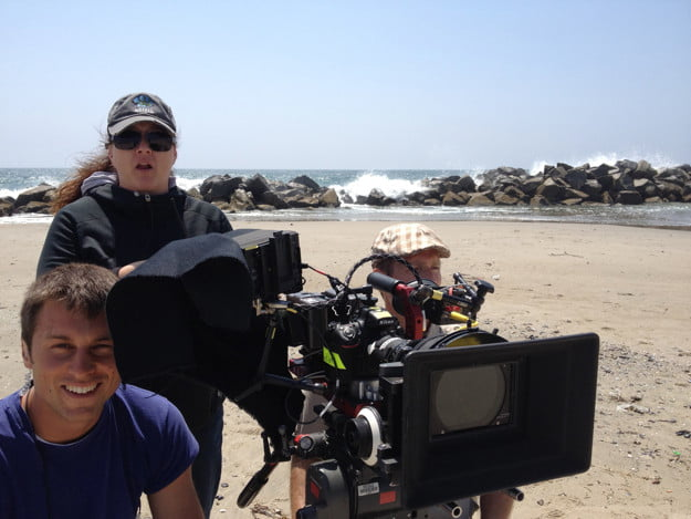 """A rig setup with a Nikon D800 DSLR on a location shoot of """"Wilfred."""""""