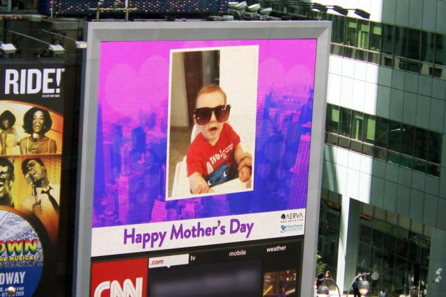 mothers day baby pictures in times square pic screen mothersday opt