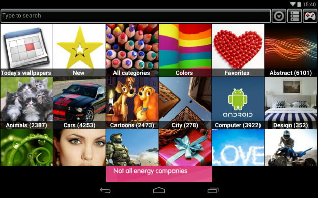 PicSpeed_HD_Wallpapers_Android_tablet_app_screenshot