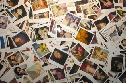 pile of polaroids