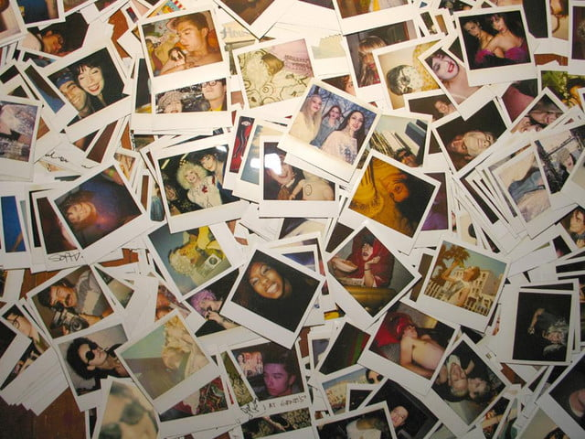 according to facebook there are  million photos uploaded on the social network daily and thats just crazy pile of polaroids