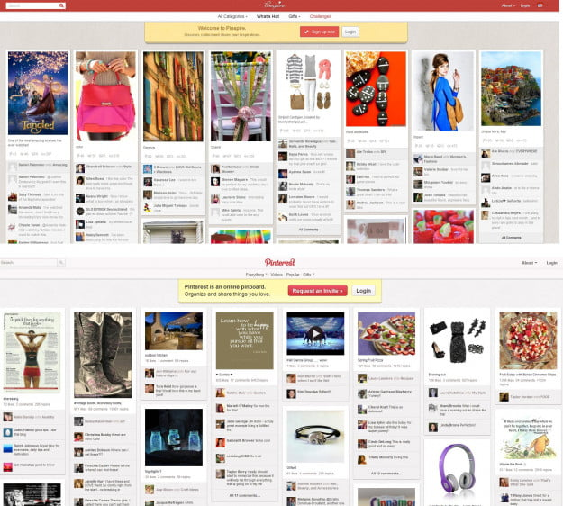 pinspire v pinterest