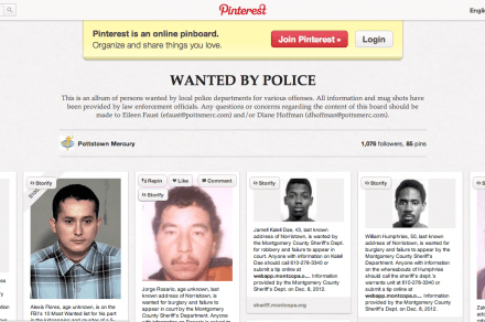 Pinterest Wanted by Police
