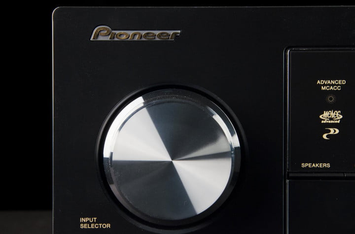 pioneer vsx  review av receiver logo volume