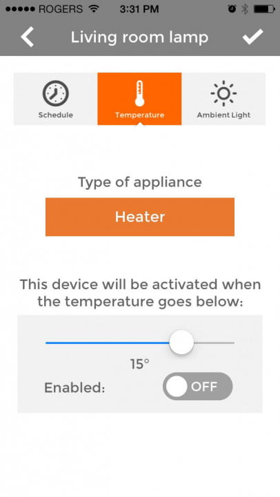 piper home security system review screenshot temperature