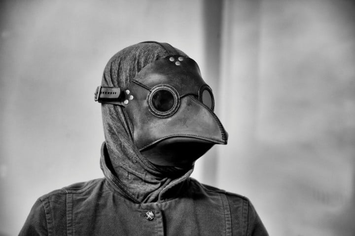 biz stone reveals project imaginat  on picks plague doctor mask portrait